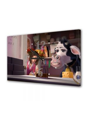 Tablou Canvas cu Ceas Animatie pentru Copii filmul Albinuta, 30 x 45 cm