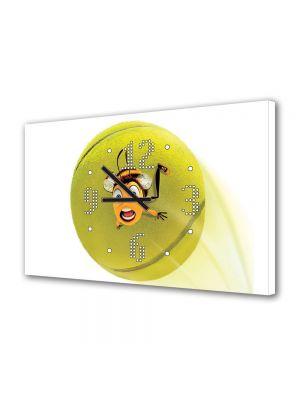 Tablou Canvas cu Ceas Animatie pentru Copii Oops Bee Movie, 30 x 45 cm