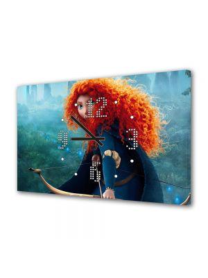 Tablou Canvas cu Ceas Animatie pentru Copii Brave 4, 30 x 45 cm