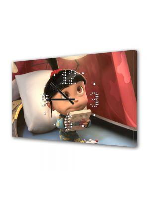 Tablou Canvas cu Ceas Animatie pentru Copii Despicable Me 2 Agnes, 30 x 45 cm