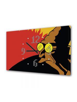 Tablou Canvas cu Ceas Animatie pentru Copii Futurama Profesorul, 30 x 45 cm
