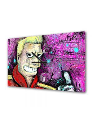 Tablou Canvas cu Ceas Animatie pentru Copii Futurama Zapp, 30 x 45 cm