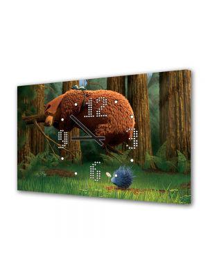 Tablou Canvas cu Ceas Animatie pentru Copii Open Season Boog, 30 x 45 cm