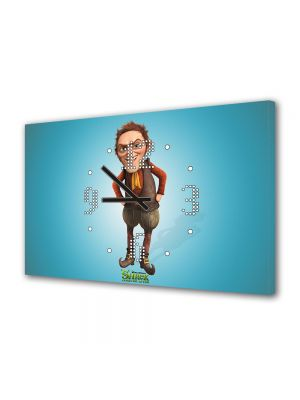 Tablou Canvas cu Ceas Animatie pentru Copii Shrek, 30 x 45 cm