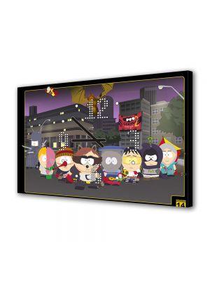 Tablou Canvas cu Ceas Animatie pentru Copii South Park Coon, 30 x 45 cm