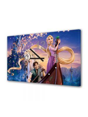Tablou Canvas cu Ceas Animatie pentru Copii Tangled Musical Film, 30 x 45 cm
