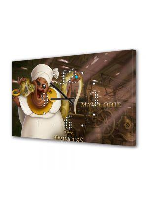 Tablou Canvas cu Ceas Animatie pentru Copii Princess and the Frog Mama Odine, 30 x 45 cm