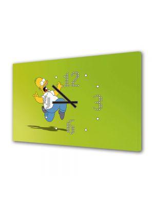 Tablou Canvas cu Ceas Animatie pentru Copii The Simpsons Veselie, 30 x 45 cm