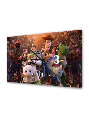 Tablou Canvas cu Ceas Animatie pentru Copii Toy Story Timpul pierdut, 30 x 45 cm