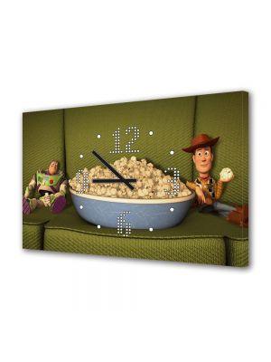 Tablou Canvas cu Ceas Animatie pentru Copii Toy Story, 30 x 45 cm