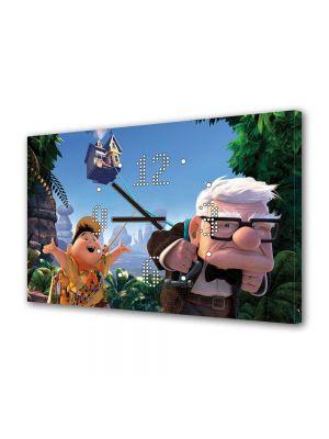 Tablou Canvas cu Ceas Animatie pentru Copii Pixar Up Movie, 30 x 45 cm