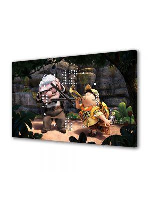 Tablou Canvas cu Ceas Animatie pentru Copii Up Film Pixar, 30 x 45 cm