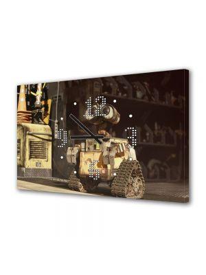 Tablou Canvas cu Ceas Animatie pentru Copii Wall E 3, 30 x 45 cm