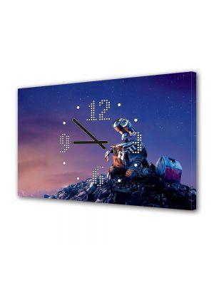 Tablou Canvas cu Ceas Animatie pentru Copii Wall E 4, 30 x 45 cm