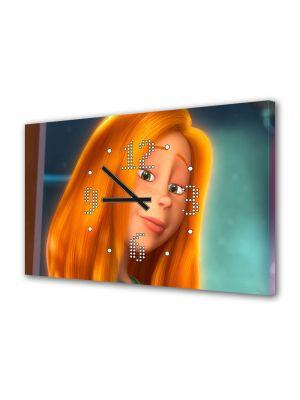 Tablou Canvas cu Ceas Animatie pentru Copii Dr Seuss the Lorax Audrey, 30 x 45 cm