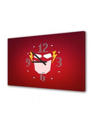 Tablou Canvas cu Ceas Animatie pentru Copii Flash, 30 x 45 cm