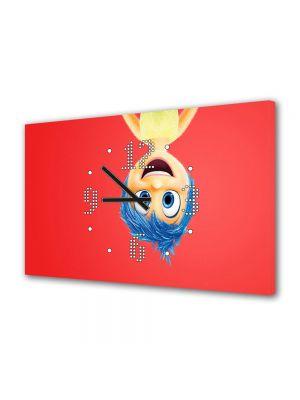 Tablou Canvas cu Ceas Animatie pentru Copii Inside Out 2015 Joy Disney Pixar, 30 x 45 cm