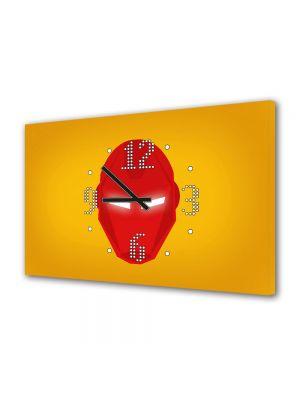 Tablou Canvas cu Ceas Animatie pentru Copii Iron Man, 30 x 45 cm