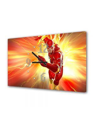 Tablou Canvas cu Ceas Animatie pentru Copii Lightning Strikes DC Universe Online, 30 x 45 cm