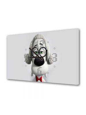 Tablou Canvas cu Ceas Animatie pentru Copii Mr Peaboy 2014, 30 x 45 cm