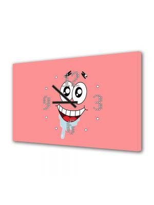 Tablou Canvas cu Ceas Animatie pentru Copii Patrick Star, 30 x 45 cm