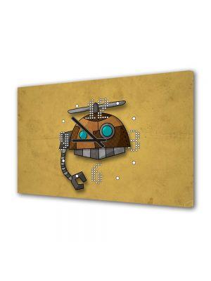 Tablou Canvas cu Ceas Animatie pentru Copii Robotel, 30 x 45 cm