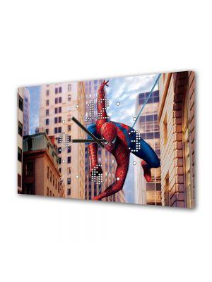Tablou Canvas cu Ceas Animatie pentru Copii Spiderman Marvel, 30 x 45 cm