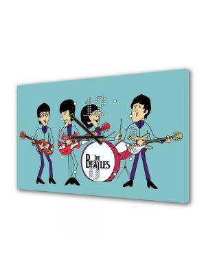 Tablou Canvas cu Ceas Animatie pentru Copii The Beatles, 30 x 45 cm