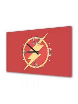 Tablou Canvas cu Ceas Animatie pentru Copii Flash Marvel, 30 x 45 cm