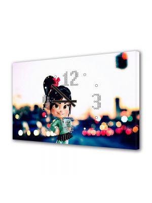 Tablou Canvas cu Ceas Animatie pentru Copii Wreck it Ralph, 30 x 45 cm