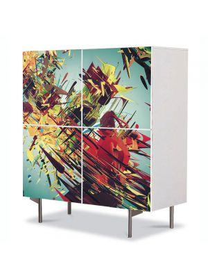 Comoda cu 4 Usi Art Work Abstract Abstract vintage, 84 x 84 cm