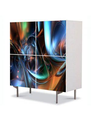 Comoda cu 4 Usi Art Work Abstract Futuristic 1, 84 x 84 cm