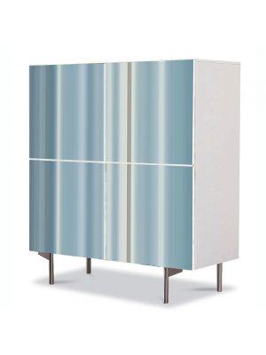 Comoda cu 4 Usi Art Work Abstract Albastru pal, 84 x 84 cm