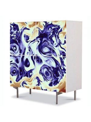 Comoda cu 4 Usi Art Work Abstract Melanj, 84 x 84 cm