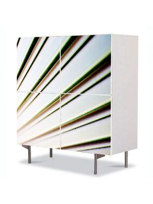Comoda cu 4 Usi Art Work Abstract Ramuri, 84 x 84 cm