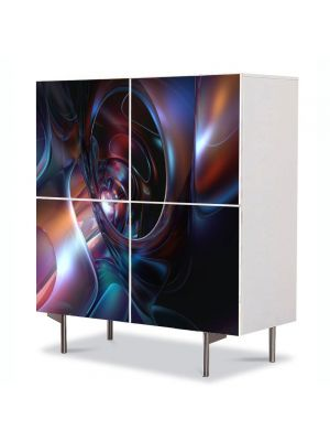 Comoda cu 4 Usi Art Work Abstract Futuristic 2, 84 x 84 cm