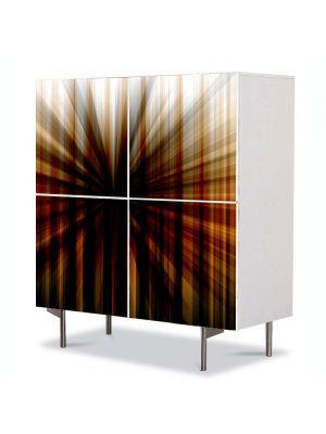 Comoda cu 4 Usi Art Work Abstract Centru intunecat, 84 x 84 cm