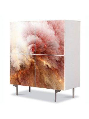 Comoda cu 4 Usi Art Work Abstract Nor in spatiu, 84 x 84 cm