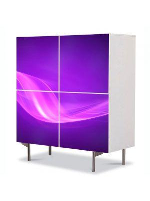 Comoda cu 4 Usi Art Work Abstract Violet, 84 x 84 cm
