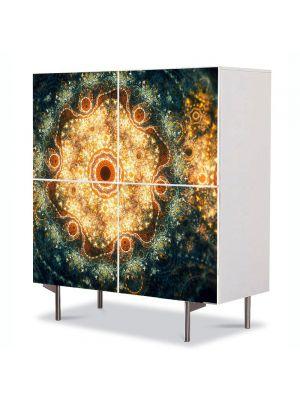 Comoda cu 4 Usi Art Work Abstract Mandala abstract, 84 x 84 cm