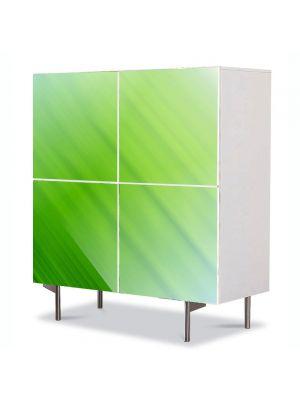 Comoda cu 4 Usi Art Work Abstract Diagonal verde, 84 x 84 cm