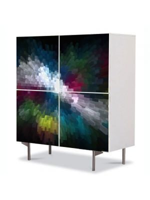 Comoda cu 4 Usi Art Work Abstract Perspectiva, 84 x 84 cm