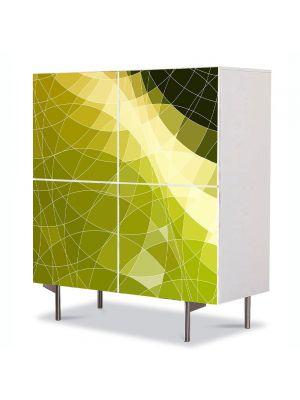 Comoda cu 4 Usi Art Work Abstract Suprapunere , 84 x 84 cm