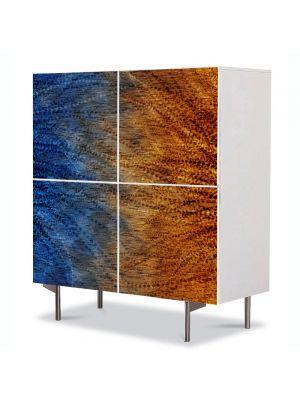 Comoda cu 4 Usi Art Work Abstract Cald-rece, 84 x 84 cm
