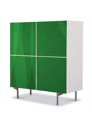 Comoda cu 4 Usi Art Work Abstract Perdea verde, 84 x 84 cm