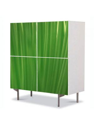 Comoda cu 4 Usi Art Work Abstract Linii de frunze, 84 x 84 cm