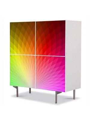 Comoda cu 4 Usi Art Work Abstract Roz modern, 84 x 84 cm