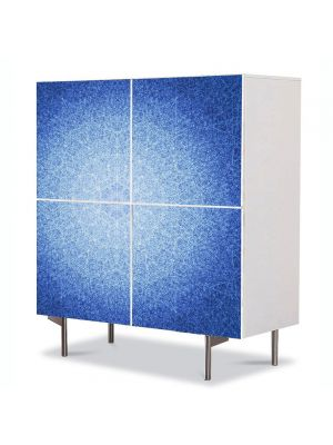 Comoda cu 4 Usi Art Work Abstract Mandala abstracta, 84 x 84 cm