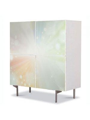 Comoda cu 4 Usi Art Work Abstract Raza de lumina, 84 x 84 cm