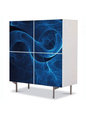 Comoda cu 4 Usi Art Work Abstract Fum , 84 x 84 cm